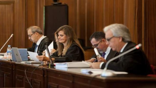 Partes personadas en el juicio por el crimen de Rochelambert