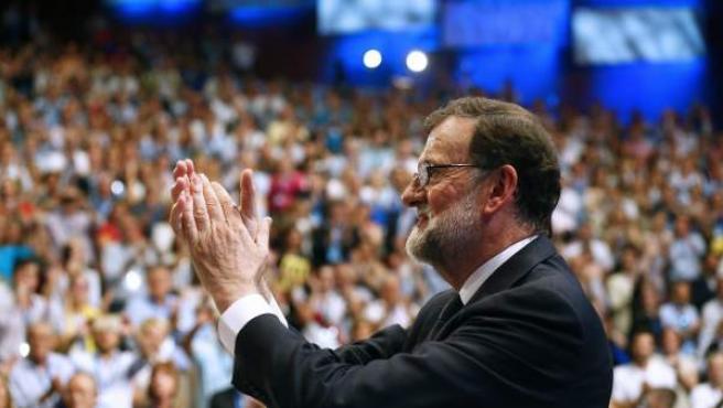 Mariano Rajoy, tras su intervención en el XIX Congreso Nacional del PP.