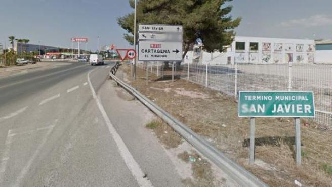 Imagen de la Nacional 332 a su paso por la localidad de San Javier.