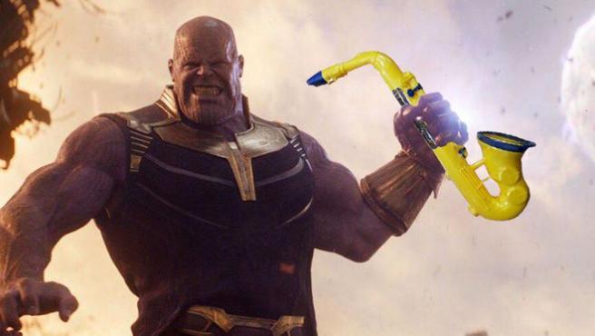 El saxofón de Thanos se convierte en el meme de toda una vida