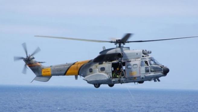 Helicóptero Super Puma.