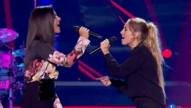 Marta y María, cantando en OT 2018.