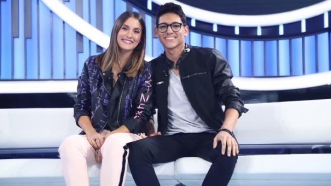Sabela y Alfonso, concursantes de OT.