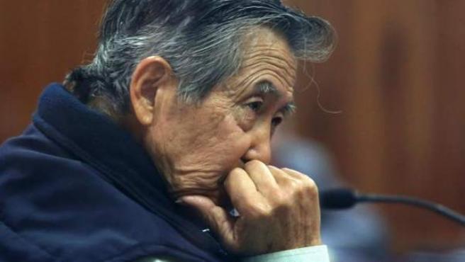 El expresidente de Perú Alberto Fujimori, durante una audiencia en Lima (Perú), el 27 de junio de 2014.