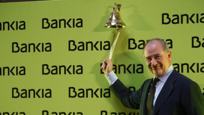 Rodrigo Rato, el día de la salida de Bankia a Bolsa.
