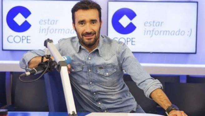 Juanma Castaño, director de 'El partidazo de Cope', en los estudios de la emisora en Madrid.