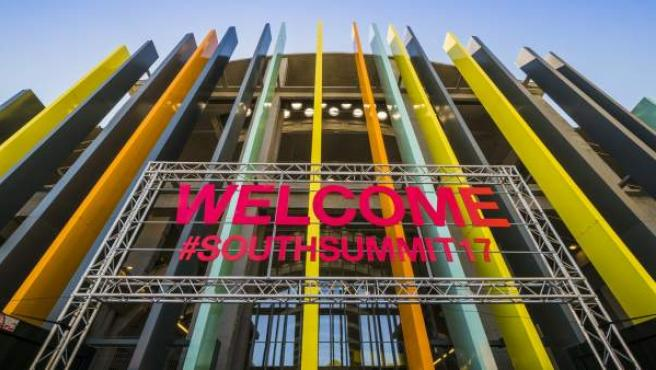 Fachada de entrada al South Summit de 2017.