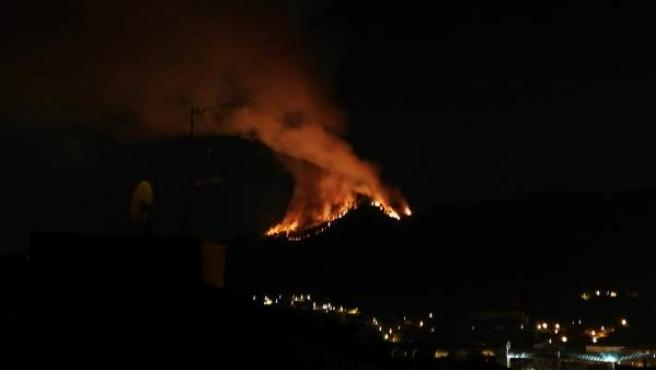 Incendio en San Esteban, Redondela (Pontevedra)