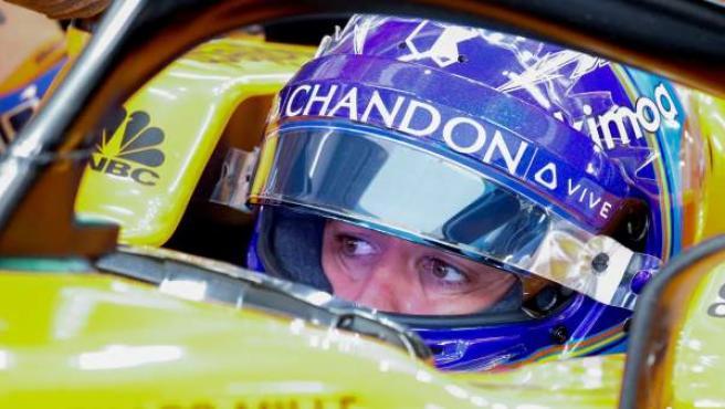 Fernando Alonso, al volante del McLaren MCL33.