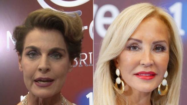 Antonia Dell'Atte y Carmen Lomana, dos de las concursantes de MasterChef Celebrity III