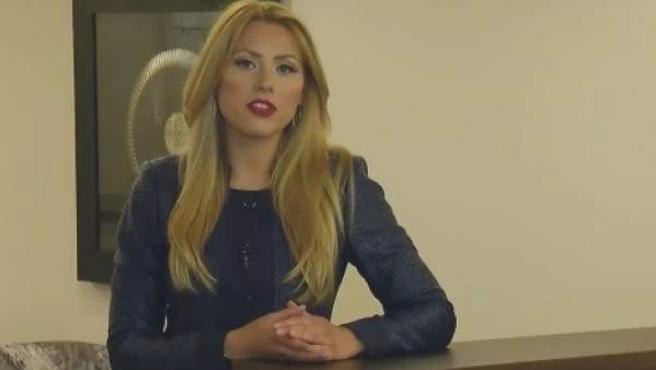 Viktoria Marinova, en su última aparición en televisión.