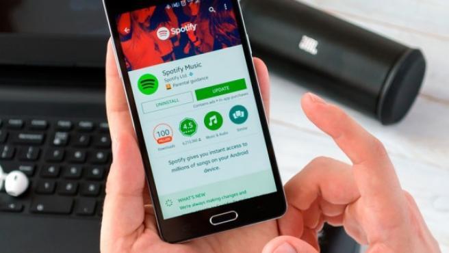 La aplicación Spotify.