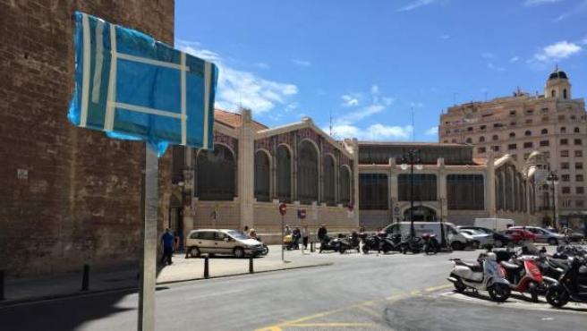 Obres en la plaça de Bruixes de València