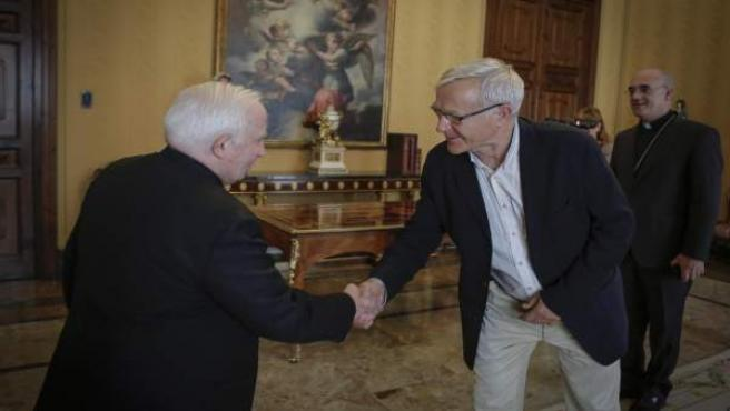 Antonio Cañizares y Joan Ribó, en la reunión en el Arzobispado