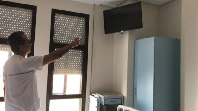 Imatge d'arxiu del televisor d'un hospital