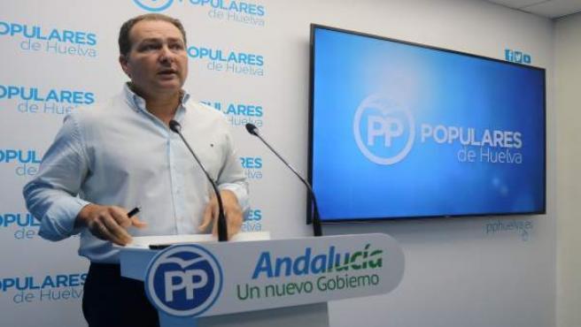 El portavoz del PP en Aljaraque, David Toscano.