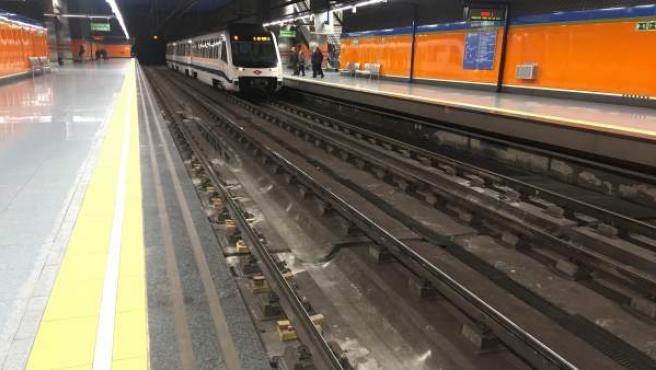 Estación Julián Besteiro, en Metrosur