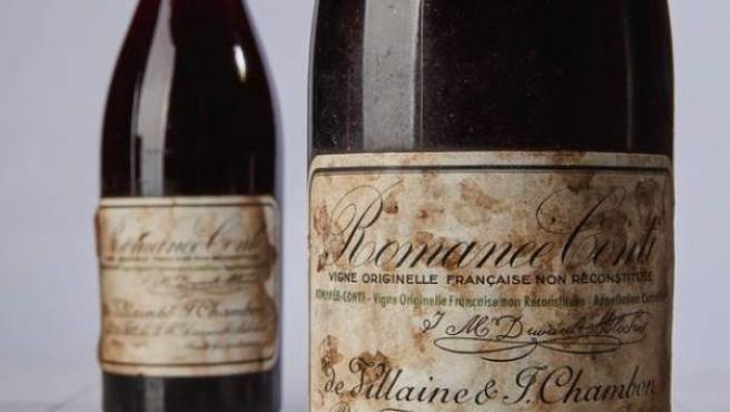 Las dos botellas de Romanée-Conti subastadas en Nueva York.