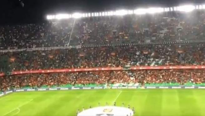 Un sector de la afición española pitó el himno inglés antes del España-Inglaterra.