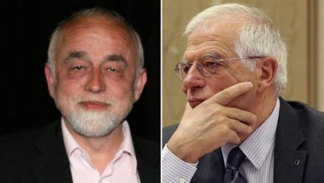 El presidente del Parlamento de Flandes (Bélgica), Jan Peumans, y el ministro de Asuntos Exteriores español, Josep Borrell.