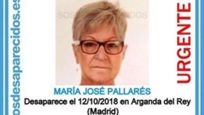 Imagen compartida por S.O.S. Desaparecidos de María José Pallarés