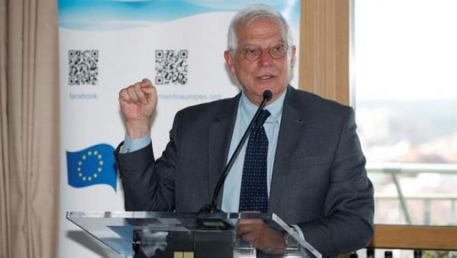 El ministro de Asuntos Exteriores, Josep Borrell, interviene en el Consejo Federal Español del Movimiento Europeo.