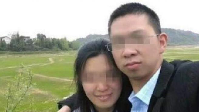 Foto de la pareja china.
