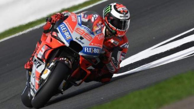 Jorge Lorenzo, en el circuito de Silverstone, en una imagen de archivo.