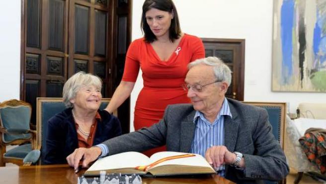 Visita de Pierre Joliot-Curie y su mujer a Santander