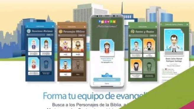 Captura de pantalla de la aplicación 'Jesucristo Go'.