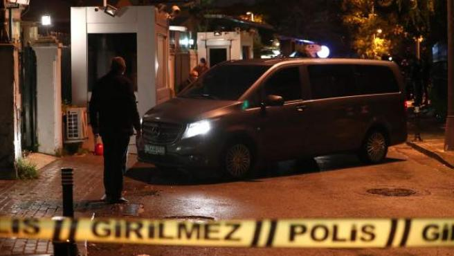 Registro en la residencia del cónsul de Arabia Saudí en Estambul (Turquía) como parte de la investigación sobre el periodista desaparecido Jamal Khashoggi.