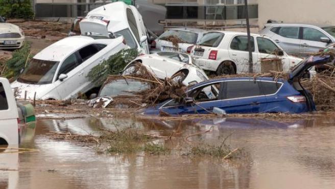 Imagen de la inundación en Sant Llorenç (Mallorca).