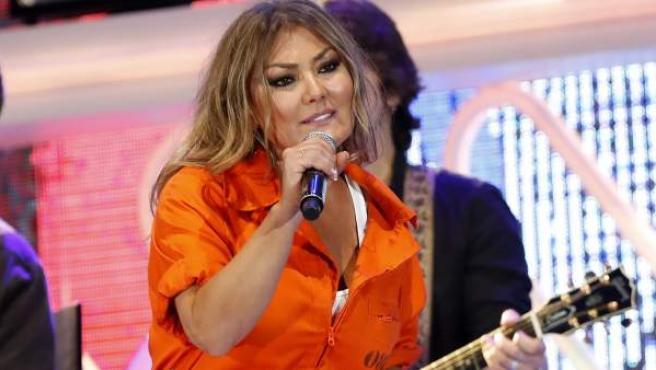 La cantante irundarra Amaia Montero, durante su actuación en el concierto de Cadena Dial.