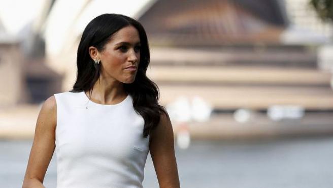 La duquesa de Sussex durante su visita a Australia en la ópera de Sydney.