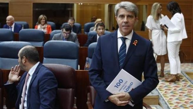 Angel Garrido, en el debate sobre el estado de la región.