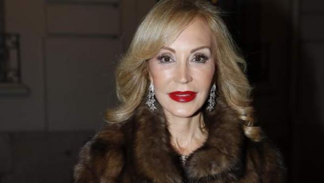 Carmen Lomana, en un evento de moda en Madrid.
