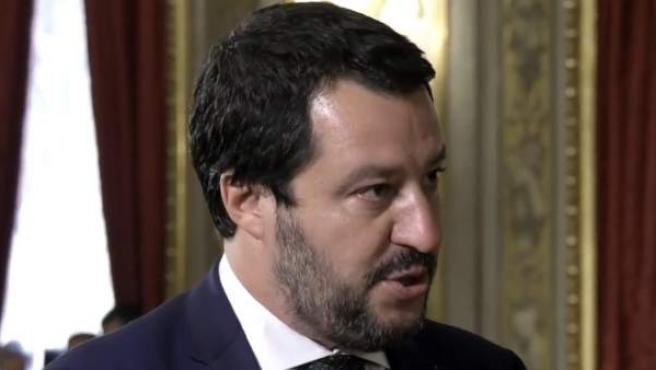 En la imagen, el ministro de Interior italiano Matteo Salvini.