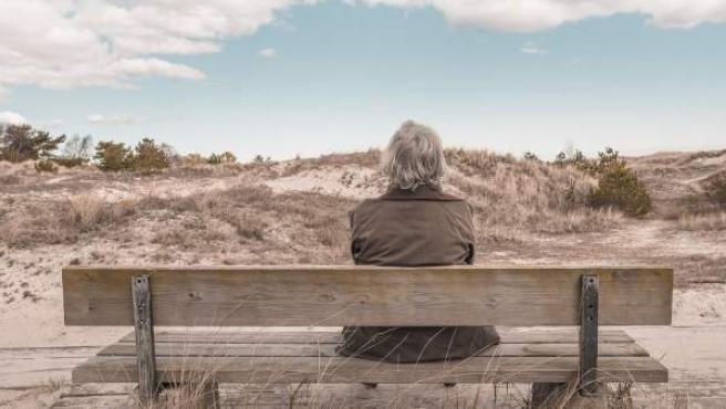 Imagen de archivo de una anciana.