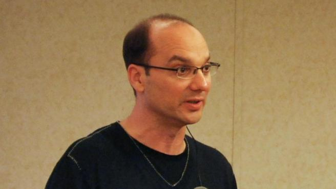 Andy Rubin, cofundador y ex consejero delegado de Danger Inc. y Android, durante el Google Developer Day, en Japón, en 2008.