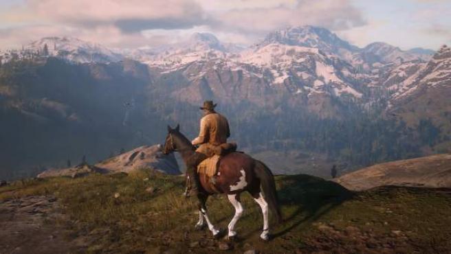 Una bella imagen de un momento contemplativo en 'Red Dead Redemption 2'.