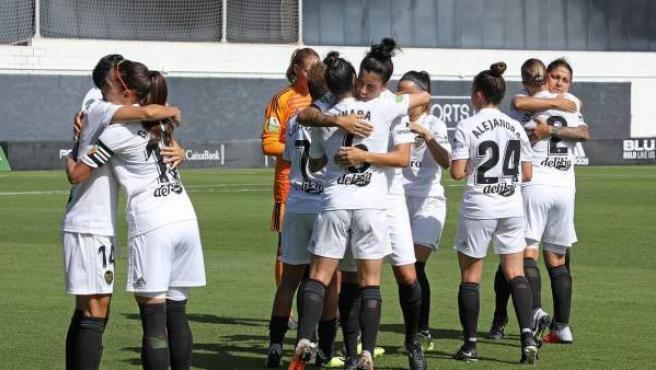 El Valencia femenino en un partido de la Liga Iberdrola