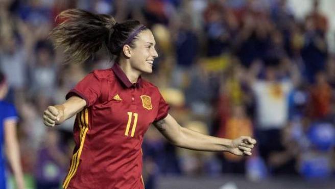 Alexia Putellas, jugadora de la Selección española de fútbol absoluta
