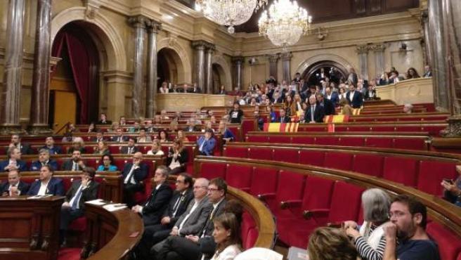 Imagen de archivo del Parlament el 27 de octubre de 2017.