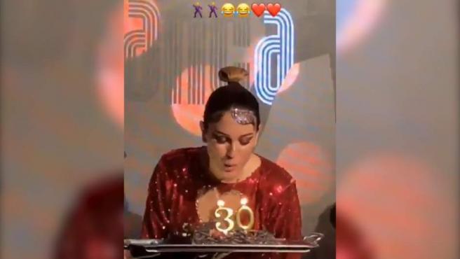 La actriz Blanca Suárez celebra sus 30 por todo lo alto.