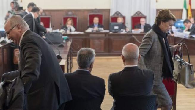 Manuel Chaves y José Antonio Griñán en el juicio por los ERE.