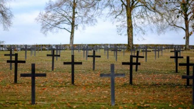 Vista del cementerio militar alemán de Brieulles-sur-Meuse, al norte de Francia.