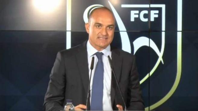Andreu Subies, en un acto de la Federación Catalana de Fútbol.