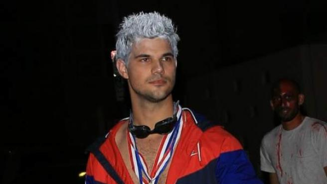 El actor Taylor Lautner, de 26 años, se hizo famoso gracias a la saga Crespúsculo.