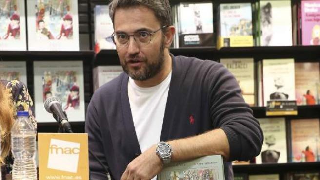 Màxim Huerta presenta en Barcelona su libro a mediados de octubre.