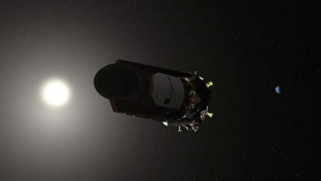 Ilustración del telescopio espacial Kepler.